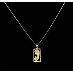 14KT Yellow Gold Religious Pendant With Chain
