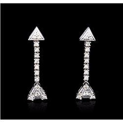 14KT White Gold 0.84 ctw Diamond Earrings
