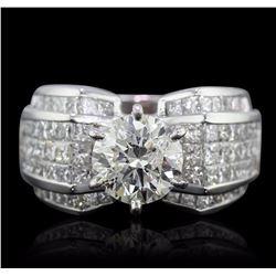 18KT White Gold 4.35 ctw Diamond Ring