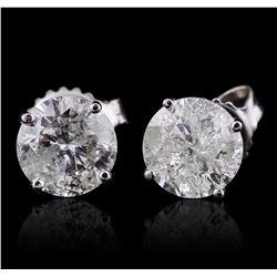 14KT White Gold 2.31 ctw Diamond Earrings