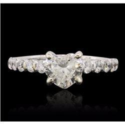 14KT White Gold EGL Certified 1.53 ctw Diamond Ring