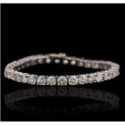 14KT White Gold 11.53 ctw Diamond Tennis Bracelet
