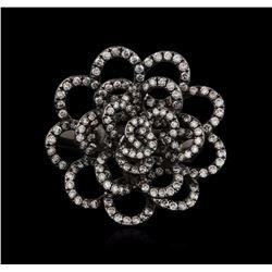 18KT Black Gold 1.44 ctw Diamond Ring