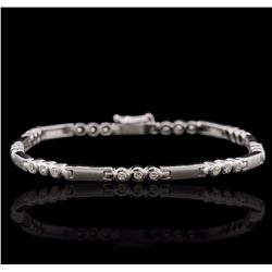 10KT White Gold 0.35 ctw Diamond Bracelet