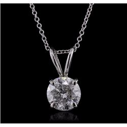 14KT White Gold 1.38 ctw Diamond Pendant With Chain