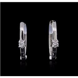 14KT White Gold 0.04 ctw Diamond Earrings