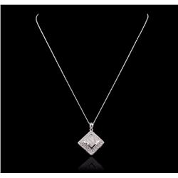 14KT White Gold 1.33 ctw Diamond Pendant With Chain