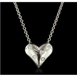 Platinum 0.15 ctw Diamond Pendant