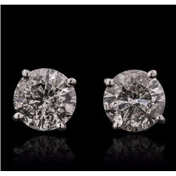 14KT White Gold 1.44 ctw Diamond Solitaire Earrings