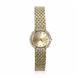 Cyma Vintage 14KT Yellow Gold Diamond Ladies Watch