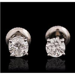 14KT White Gold 0.84 ctw Diamond Stud Earrings