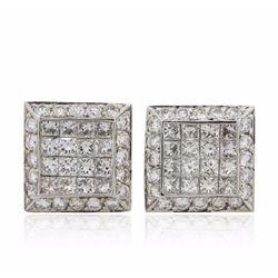 14KT White Gold 2.19 ctw Diamond Earrings