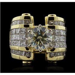 18KT Yellow Gold 8.81 ctw Diamond Ring