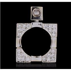 18KT White Gold 0.50 ctw Diamond Pendant