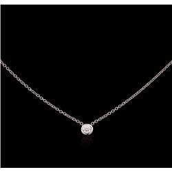0.09 ctw Diamond Necklace - 14KT White Gold