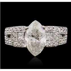 18KT White Gold EGL Certified 2.99 ctw Diamond Ring