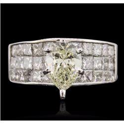18KT White Gold 2.66 ctw Diamond Ring