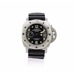 Panerai Stainless Steel Luminor Submersible Watch