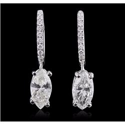 18KT White Gold 2.54 ctw Diamond Earrings