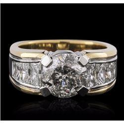Platinum and 18KT Yellow Gold 4.91 ctw Diamond Ring