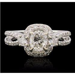 18KT White Gold EGL Certified 1.71 ctw Diamond Ring