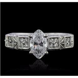 18KT White Gold EGL Certified 1.32 ctw Diamond Ring
