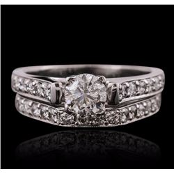 18KT White Gold 1.13 ctw Diamond Wedding Set