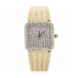 14KT Yellow Gold 1.75 ctw Diamond Ladies Watch