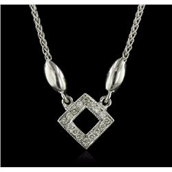 14KT White Gold 0.15 ctw Diamond Pendant