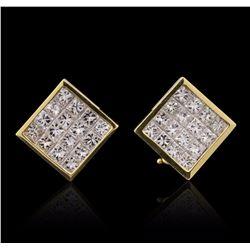 18KT Yellow Gold 2.51 ctw Diamond Earrings