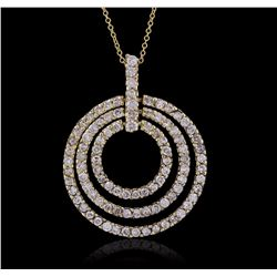 14KT Yellow Gold 1.43 ctw Diamond Pendant With Chain