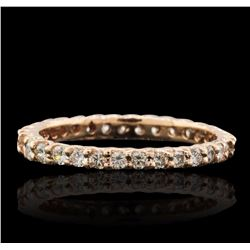 14KT Rose Gold 0.70 ctw Diamond Ring