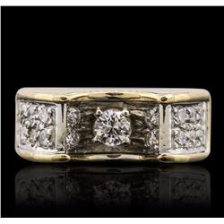 18KT Yellow Gold 0.45 ctw Diamond Ring