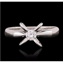 18KT White Gold 0.25 ctw Round Cut Diamond Ring