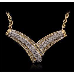 14KT Yellow Gold 1.00 ctw Diamond Necklace