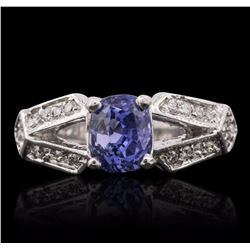 14KT White Gold 2.15 ctw Sapphire and Diamond Ring