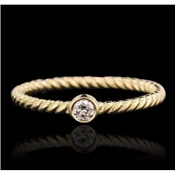 14KT Yellow Gold 0.09 ctw Diamond Ring