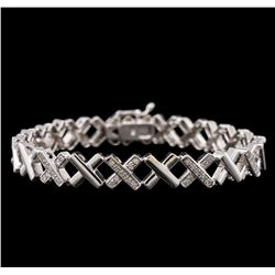 14KT White Gold 1.07 ctw Diamond Bracelet