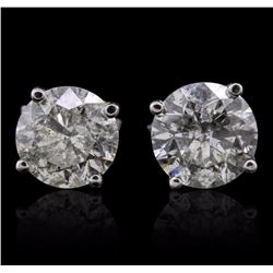 14KT White Gold 3.25 ctw Diamond Earrings