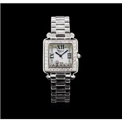 Chopard Stainless Steel 2.15 ctw Diamond Happy Sport Watch