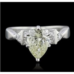 Platinum 1.79 ctw Pear Cut Diamond Ring