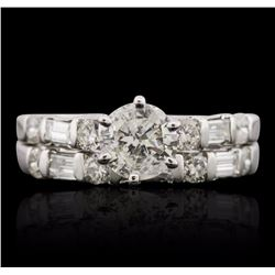 14KT White Gold 1.33 ctw Diamond Ring Wedding Set