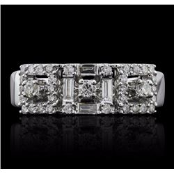 18KT White Gold 0.46 ctw Diamond Ring