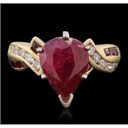 14KT Yellow Gold 2.95 ctw Ruby and Diamond Ring