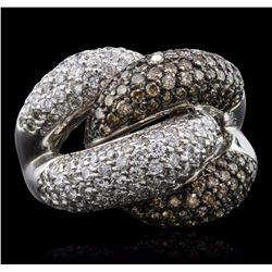 14KT White Gold 4.98 ctw Diamond Ring