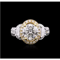 14KT Two-Tone Gold 3.62 ctw Diamond Ring