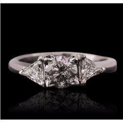 Platinum 1.82 ctw Diamond Ring