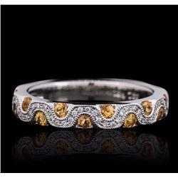 18KT White Gold Citrine and Diamond Ring