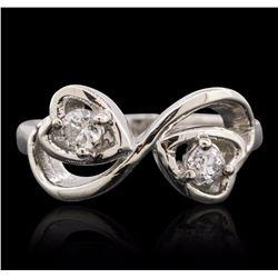 14KT White Gold 0.27 ctw Diamond Ring