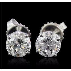 14KT White Gold 2.07 ctw Diamond Earrings